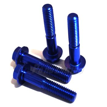2072500025027_Kit_Parafusos_M6_Anodizado_25mm_Tipo_Flange_DRC_Azul