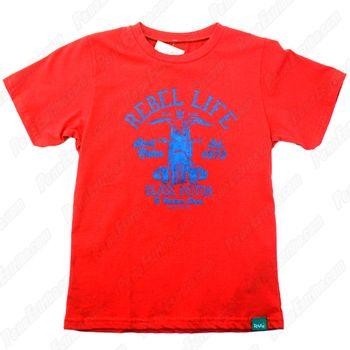 camiseta_infantil_ristow_rebel_life_vermelha