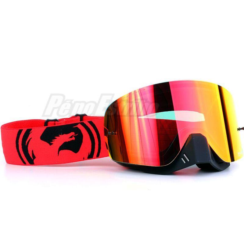 346f3857a2b6b Óculos DRAGON NFX Vermelho Preto Split com Lente Vermelha Espelhada ...